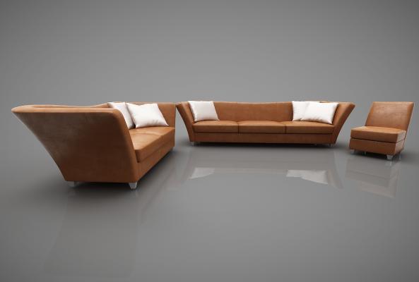 现代风格沙发3D模型【ID:643229614】