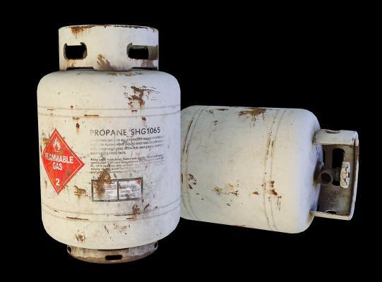 工业风写实煤气罐3D模型【ID:332833633】