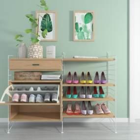 北欧鞋柜3D模型【ID:131801281】
