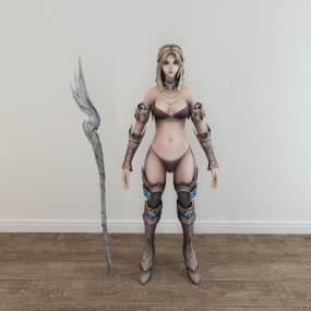 新古典动漫美女3D模型【ID:331069097】