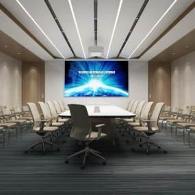 现代会议室3D模型【ID:951188158】