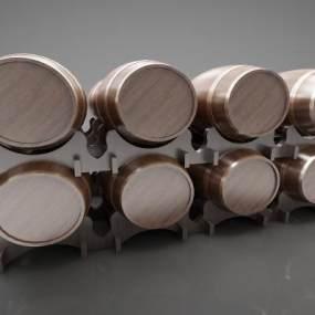 欧式风格酒桶3D模型【ID:247378517】