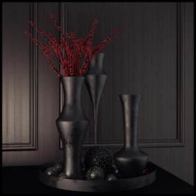 现代灰色调花瓶国外3D快三追号倍投计划表【ID:230958805】