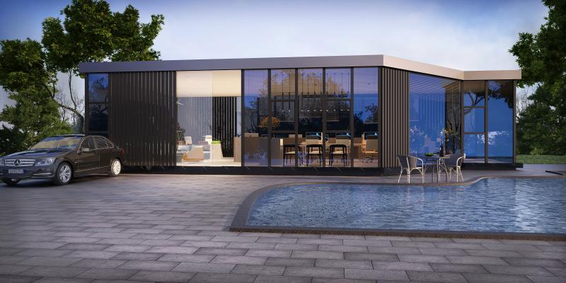 现代玻璃房3D模型【ID:144447356】