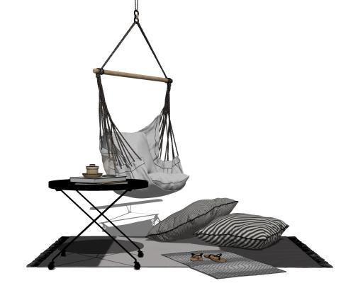 现代户外吊篮椅SU模型【ID:153901371】