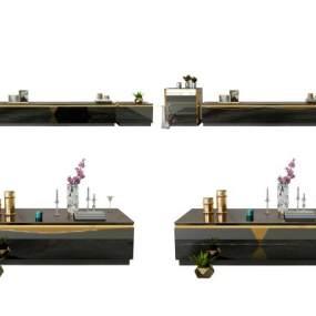 現代電視柜3D模型【ID:651258871】