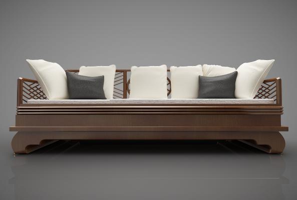 新中式风格沙发3D模型【ID:644309658】