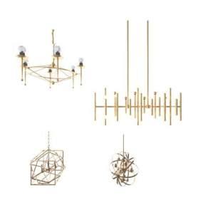 现代吊灯 3D模型【ID:740238807】