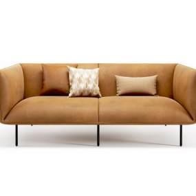 現代雙人沙發3D模型【ID:650610560】