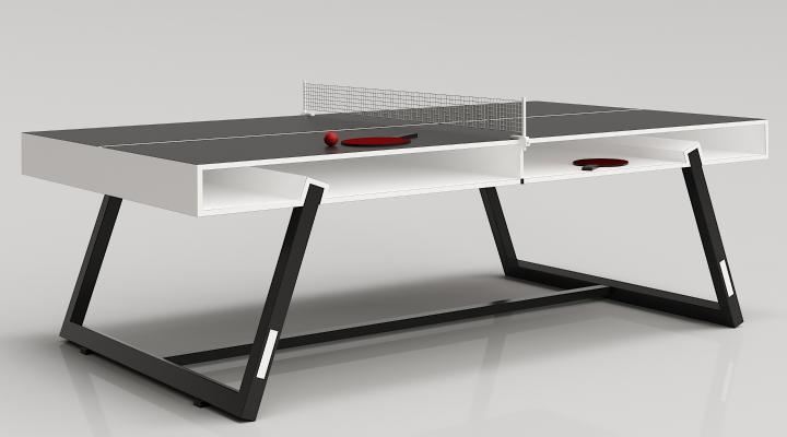 现代储物乒乓球桌3D模型【ID:934180555】