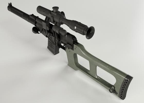 狙擊槍1134VSS3D模型【ID:440643213】