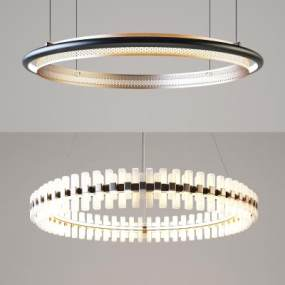 現代吊燈組合3D模型【ID:748984837】