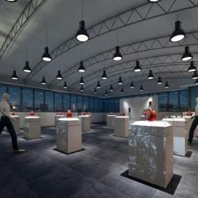 现代陈列展厅3D模型【ID:947381754】