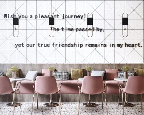 现代网红餐厅餐桌椅3D模型【ID:852290828】