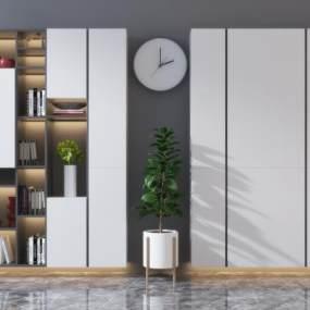 现代实木装饰柜3D模型【ID:153020148】