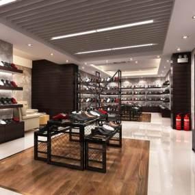 现代鞋子展厅3D模型【ID:934817726】