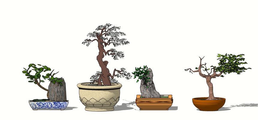 中式雕塑小品SU模型【ID:651828640】