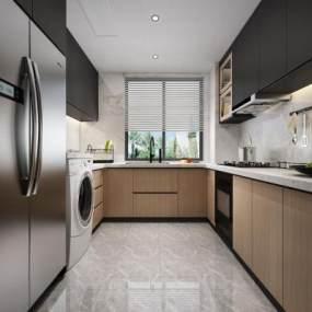 现代风格厨房3D模型【ID:547165332】