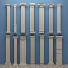 欧式罗马石膏柱子3D模型【ID:331801436】