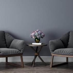 现代休闲沙发3D模型【ID:633250438】