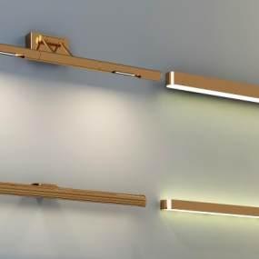 现代镜前灯壁灯组合3D模型【ID:830743446】