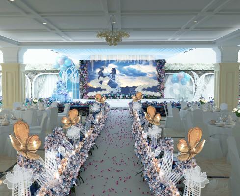 婚礼舞台3D模型【ID:940977928】