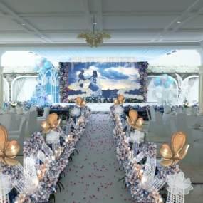 婚礼舞台 3D模型【ID:940977928】