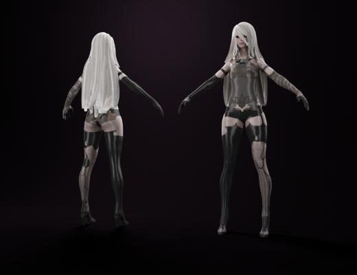 现代游戏女主角3D模型【ID:341497069】