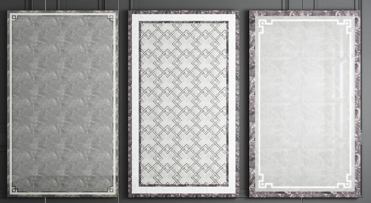 新中式瓷砖拼花3D模型【ID:341486201】