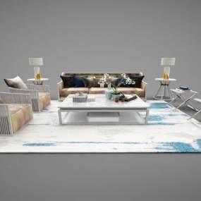 新中式家具组合3D模型【ID:643526712】