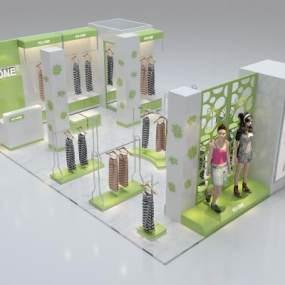 �F代女不过这时候景区还有些有人�b店3D模型【ID:943287865】