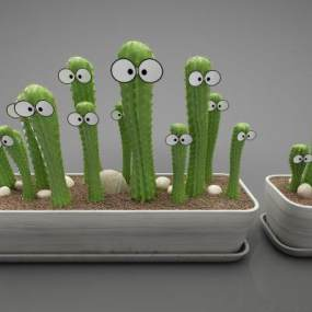 現代風格植物3D模型【ID:250532857】