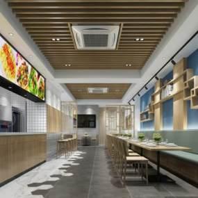 新中式餐厅面馆3D模型【ID:635785205】