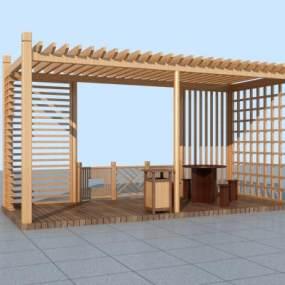 现代廊架3D模型【ID:135971433】