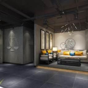 新中式沙发茶几 3D模型【ID:936073427】