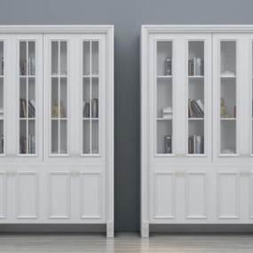 现代简欧书柜3D模型【ID:133188532】