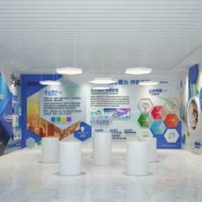 现代公司展厅企业文化墙背景墙3D模型【ID:932309719】