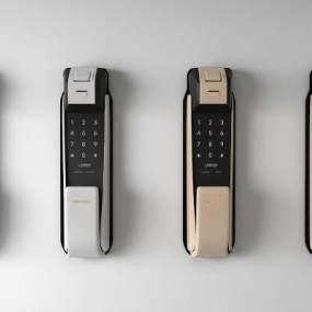 現代智能鎖門把手3D模型【ID:347040334】