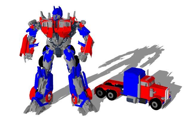 现代变形机器人汽车玩具SU模型【ID:151890215】