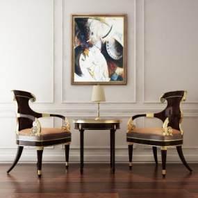 新古典椅子3D模型【ID:732173141】
