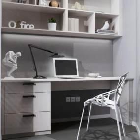 现代风格书桌3D模型【ID:948956141】