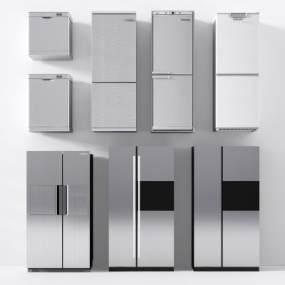 現代冰箱冰柜雙門冰箱單門冰箱小冰箱旅游冰箱3D模型【ID:230494679】