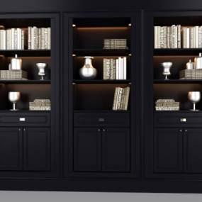 美式书柜 3D模型【ID:142166513】