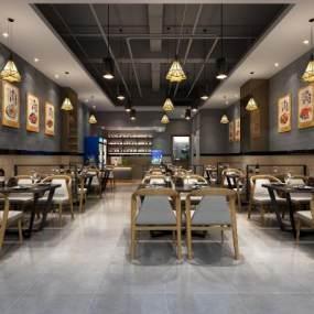 现代餐厅3D模型【ID:634817213】