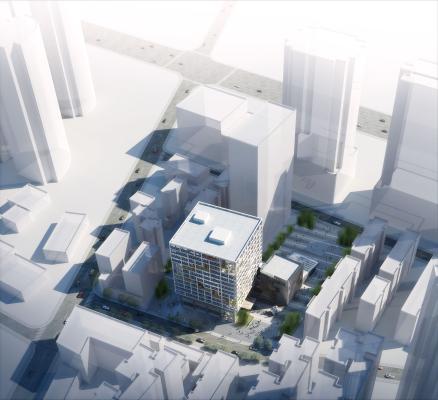 现代政府办公大楼罗湖档案中心3D模型【ID:150051992】