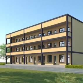现代办公楼3D模型【ID:153173975】