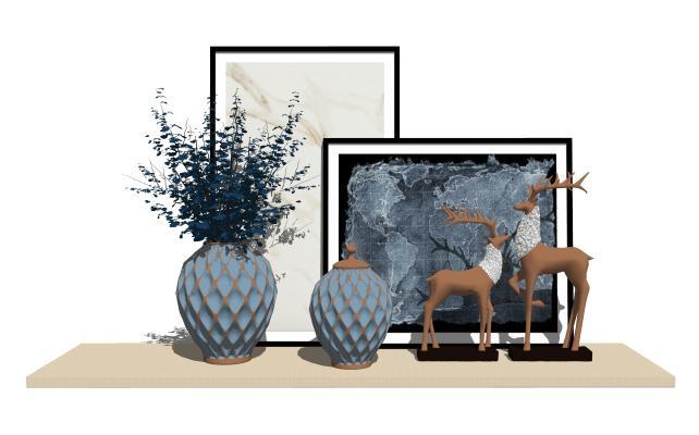 欧式新古典个性花瓶摆件1SU模型【ID:947766633】