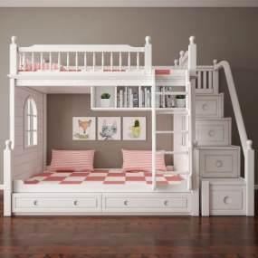 美式儿童床 3D模型【ID:836233854】