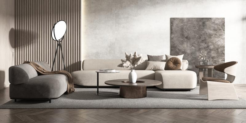现代风格沙发茶几 组合沙发 单椅