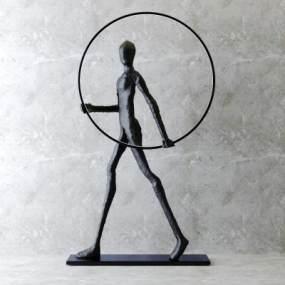 后现代抽象人物雕塑3D模型【ID:345506138】